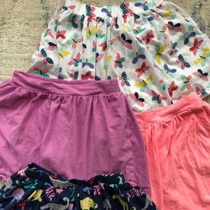 Lot of 4 Carters Scooter Skirts - Size 7